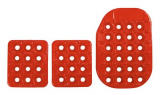 Sportovní pedály OMP - hliníkové - červené