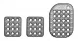 Sportovní pedály OMP - hliníkové - stříbrné