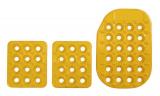 Sportovní pedály OMP - hliníkové - žluté