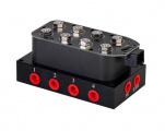 Ventilová jednotka se solenoidy ProRacing pro vzduchové podvozky - 12 portů