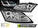 Přední světla Audi  TT 06-10 8J chrom led SEQ