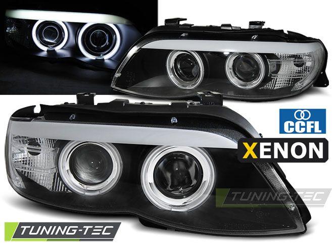 Přední světla BMW X5 E53 03/11-06 Angel Eyes CCFL černá xenon TUNINGTEC