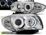 Přední světla BMW 1 E87/E81/82/88 04-11 Angel Eyes chrom
