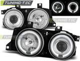 Přední světla BMW E32/E3 Angel Eyes chrom