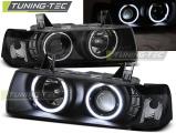 Přední světla BMW E36 12,90-08,99 C/C Angel Eyes CCFL černá
