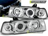 Přední světla BMW E36 12,90-08,99 C/C Angel Eyes chrom
