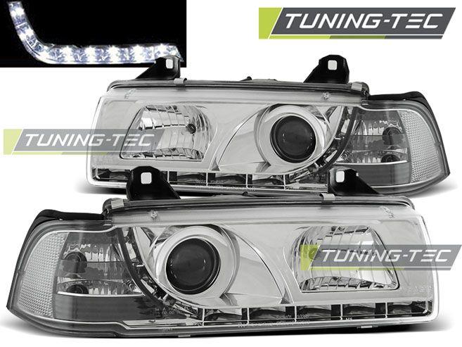 Přední světla BMW E36 12,90-08,99 chrom TUNINGTEC