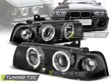 Přední světla BMW E36 12,90-08,99 S/C/T Angel Eyes černá