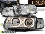 Přední světla BMW E38 06/94-08/98  Angel Eyes chrom