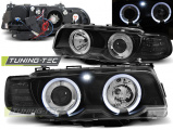 Přední světla BMW E38 09/98-07/01 Angel Eyes černá xenon