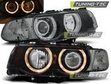 Přední světla BMW E38 09/98-07/01 Angel Eyes černá