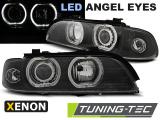 Přední světla BMW  E39 09/95-06/03 Angel Eyes černá led xenon