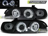 Přední světla BMW  E39 09/95-06/03 Angel Eyes černá