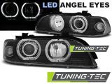 Přední světla BMW  E39 09/95-06/03 Angel Eyes černá led
