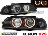 Přední světla BMW E39 09/95-06/03 Angel Eyes černá xenon