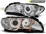Přední světla BMW E46 03/04-06 coupe cabrio Angel Eyes chrom