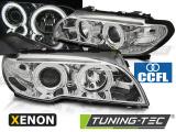 Přední světla BMW E46 03/04-06 coupe cabrio Angel Eyes CCFL chrom xenon