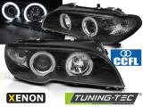 Přední světla BMW E46 04/03-06 coupe cabrio Angel Eyes CCFL černá xenon