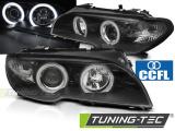 Přední světla BMW E46 04/03-06 coupe cabrio Angel Eyes CCFL černá