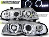 Přední světla BMW E46 04/99-03/03 coupe Angel Eyes chrom