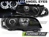 Přední světla BMW E46 04/99-03/03 coupe cabrio Angel Eyes led čern