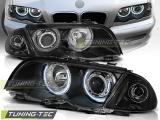 Přední světla BMW E46 05/98-08/01 S/T Angel Eyes CCFL černá