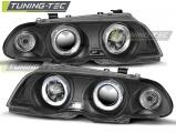 Přední světla BMW E46 05/98-08/01 S/T Angel Eyes černá