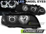 Přední světla BMW E46 05/98-08/01 S/T Angel Eyes led černá