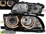 Přední světla BMW E46 09/01-03/03 coupe cabrio Angel Eyes chrom