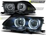 Přední světla BMW E46 09/01-03/05 Angel Eyes CCFL černá