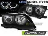 Přední světla BMW E46 09/01-03/05 Angel Eyes led černá