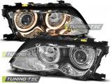 Přední světla BMW E46 09/01-03/05 S/T Angel Eyes chrom