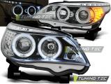 Přední světla BMW E60/E61 03-07 Angel Eyes chrom led
