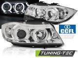 Přední světla BMW E90/E91 03/05/08/08 Angel Eyes CCFL chrom
