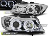 Přední světla BMW E90/E91 03/05-08/08 Angel Eyes chrom