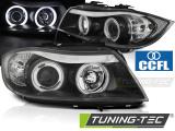 Přední světla BMW E90/E91 03/05/08/08 Angel Eyes CCFL černá