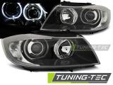 Přední světla BMW E90/E91 03/05/11  Angel Eyes černá led