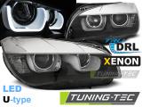 Přední světla BMW X1 E84 1/8/2014 U-led černá xenon