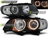 Přední světla BMW X5 E53 09/99-10/03 Angel Eyes černá xenon