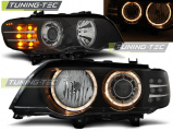 Přední světla BMW X5 E53 09/99-10/03 Angel Eyes černá led