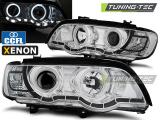 Přední světla BMW X5 E53 09/99-10/03 Angel Eyes chrom xenon