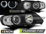 Přední světla BMW X5 E53 09/99-10/03 Angel Eyes led černá xenon