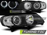 Přední světla BMW X5 E53 09/99-10/03 Angel Eyes led černá
