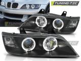 Přední světla BMW Z3 01/96-02 Angel Eyes černá