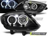 Přední světla BMW Z4 E85 E86 02-08 Angel Eyes černá