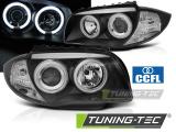 Přední světla BMW 1 E87/E81/82/88 04-11 Angel Eyes CCFL černá