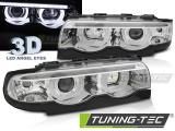 Přední světla BMW E38 94-01 Angel Eyes led 3D chrom