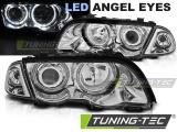 Přední světla BMW E46 05/98-08/01 S/T Angel Eyes led chrom