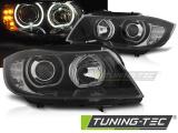 Přední světla BMW E90/E91 03/05/11 Angel Eyes led černá