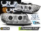 Přední světla BMW E90/E91 09-11 Angel Eyes led DRL chrom xenon